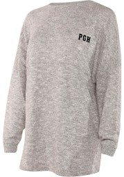 Pittsburgh Womens Grey Cozy Fleece Long Sleeve T Shirt