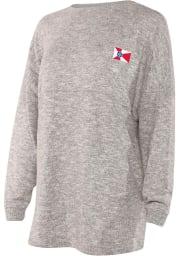 Wichita Womens Grey Cozy Fleece Long Sleeve T Shirt