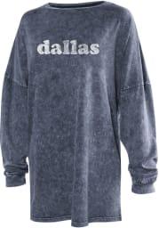 Dallas Womens Navy Long Sleeve T Shirt