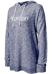 Kentucky Women's Navy Tunic Long Sleeve Lightweight Hood