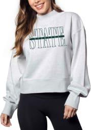 Michigan State Spartans Womens Grey Hailey Crew Sweatshirt