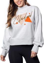 Cleveland Womens Grey Hailey Sweatshirt Crew Sweatshirt