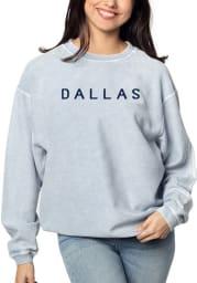 Dallas Ft Worth Womens Light Blue Corded Crew Crew Sweatshirt
