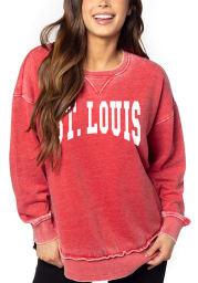St Louis Womens Cardinal Campus Pullover Crew Sweatshirt