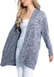 Kansas Jayhawks Womens Navy Blue Cozy Long Sleeve Cardigan