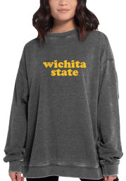 Wichita State Shockers Womens Charcoal Campus Crew Sweatshirt