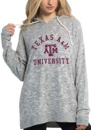 Texas A&M Aggies Womens Grey Cozy Tunic Hooded Sweatshirt