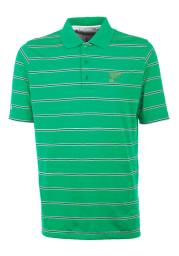 Antigua St Louis Blues Mens Green Deluxe Short Sleeve Polo