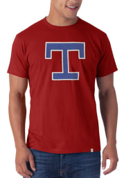 47 Texas Rangers Red Logo Knockout Short Sleeve Fashion T Shirt