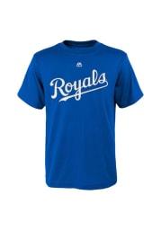 Salvador Perez Kansas City Royals Boys Blue Boys 4-7 Perez Short Sleeve T-Shirt