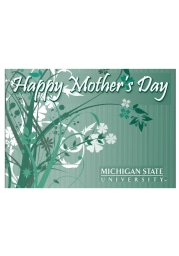 Michigan State Spartans Mother`s Day Card