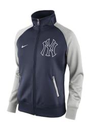 Nike New York Yankees Womens Navy Blue Track Jacket 1.5 Long Sleeve Track Jacket