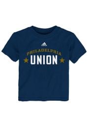 Philadelphia Union Toddler Navy Blue Wordmark Short Sleeve T-Shirt