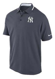 Nike New York Yankees Mens Navy Blue Dri-FIT Short Sleeve Polo