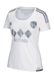 Adidas Sporting Kansas City Womens Replica Third 2015 Replica Soccer - White