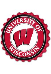 Wisconsin Badgers Bottle Cap Sign