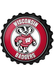 Wisconsin Badgers Mascot Bottle Cap Sign