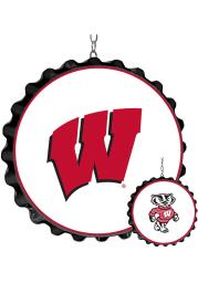 Wisconsin Badgers Bottle Cap Dangler Sign