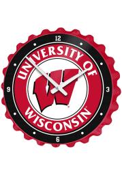 Wisconsin Badgers Bottle Cap Wall Clock