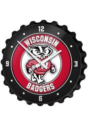 Wisconsin Badgers Mascot Bottle Cap Wall Clock
