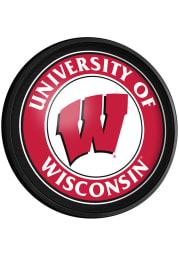 Wisconsin Badgers Round Slimline Lighted Sign