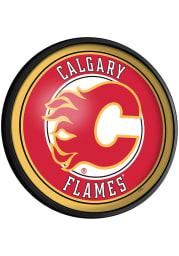 Calgary Flames Round Slimline Lighted Sign