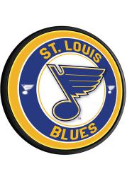 St Louis Blues Round Slimline Lighted Sign