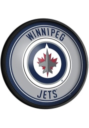 Winnipeg Jets Round Slimline Lighted Sign