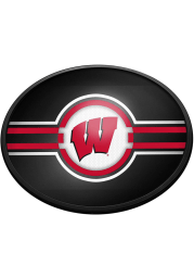 Wisconsin Badgers Oval Slimline Lighted Sign