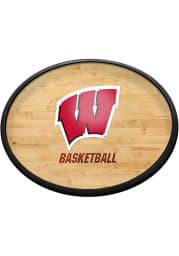 Wisconsin Badgers Hardwood Oval Slimline Lighted Sign