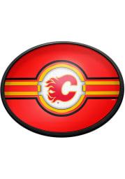 Calgary Flames Oval Slimline Lighted Sign