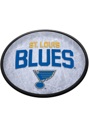 St Louis Blues Ice Rink Oval Slimline Lighted Sign