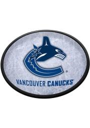 Vancouver Canucks Ice Rink Oval Slimline Lighted Sign