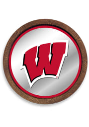 Wisconsin Badgers Faux Barrel Top Mirrored Sign