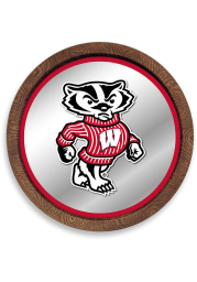 Wisconsin Badgers Mascot Faux Barrel Top Mirrored Sign