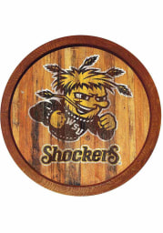 Wichita State Shockers Weathered Faux Barrel Top Sign
