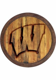 Wisconsin Badgers Branded Faux Barrel Top Sign