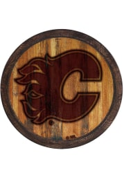 Calgary Flames Branded Faux Barrel Top Sign
