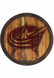 Columbus Blue Jackets Branded Faux Barrel Top Sign