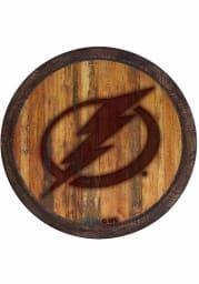 Tampa Bay Lightning Branded Faux Barrel Top Sign