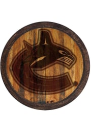 Vancouver Canucks Branded Faux Barrel Top Sign