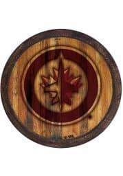 Winnipeg Jets Branded Faux Barrel Top Sign