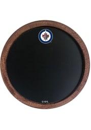 Winnipeg Jets Chalkboard Faux Barrel Top Sign