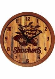 Wichita State Shockers Branded Faux Barrel Top Wall Clock