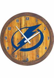 Tampa Bay Lightning Faux Barrel Top Wall Clock