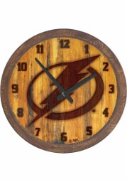 Tampa Bay Lightning Branded Faux Barrel Top Wall Clock