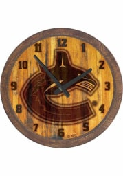 Vancouver Canucks Branded Faux Barrel Top Wall Clock