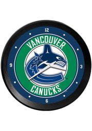 Vancouver Canucks Ribbed Frame Wall Clock