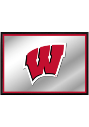Wisconsin Badgers Framed Mirrored Wall Sign