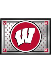 Wisconsin Badgers Team Spirit Framed Mirrored Wall Sign